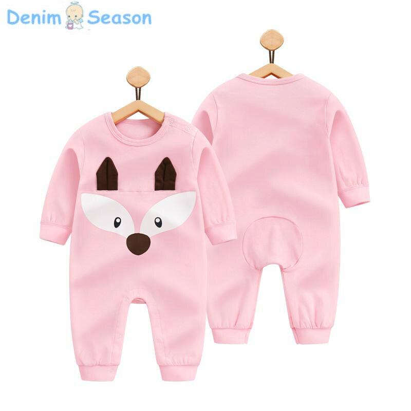 Denim Season 2018 Summer Newborn Baby Clothes Set Cotton Baby Girl Rompers Baby Onesie Romper Newborn Clothing Baby Jumpsuit Cut