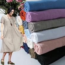 130x100 см мягкий Лен Хлопок Ткань органический материал чистый натуральный лен камбрик эко Сделай Сам одежда Лоскутная Ткань