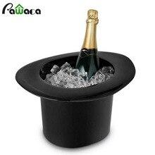 Шапка в форме колпачка овальное ледяное ведро утолщенное ведро для льда прочные держатели для питья для соды, пива шампанского барная посуда 1.2л 40 унций