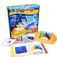 100 вызов цветной код головоломки игры Tangram головоломки доска головоломка игрушка дети развивают логику пространственные навыки мышления игрушка