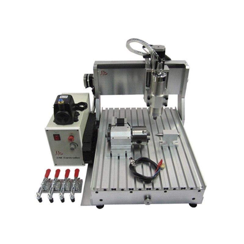 YOOCNC 1500 W 4 eixo router madeira máquinas cnc 3040 máquina de gravura em metal com interruptor de limite