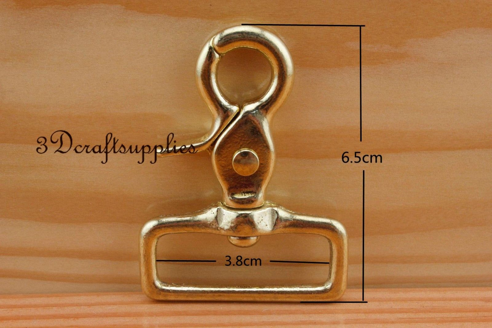 one Lobster Clasps Clips Claw purse hooks Swivel snap hook solid brass 38 mm K84