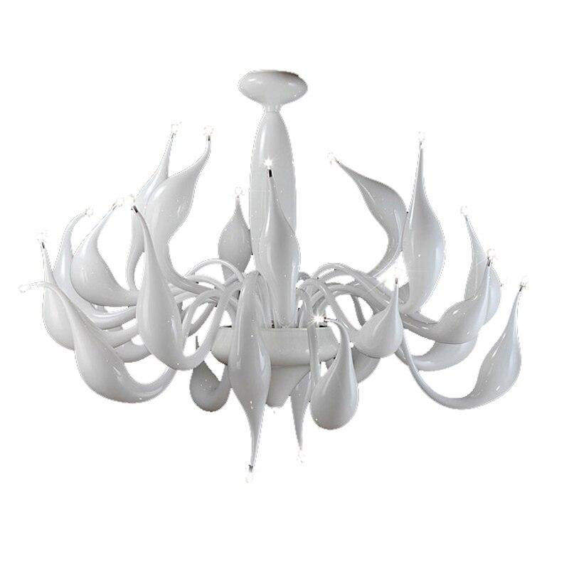 Lampadari Di Murano Bianchi.Italia Del Cigno Lampadario Moderno Di Murano Lampadari Creative Art