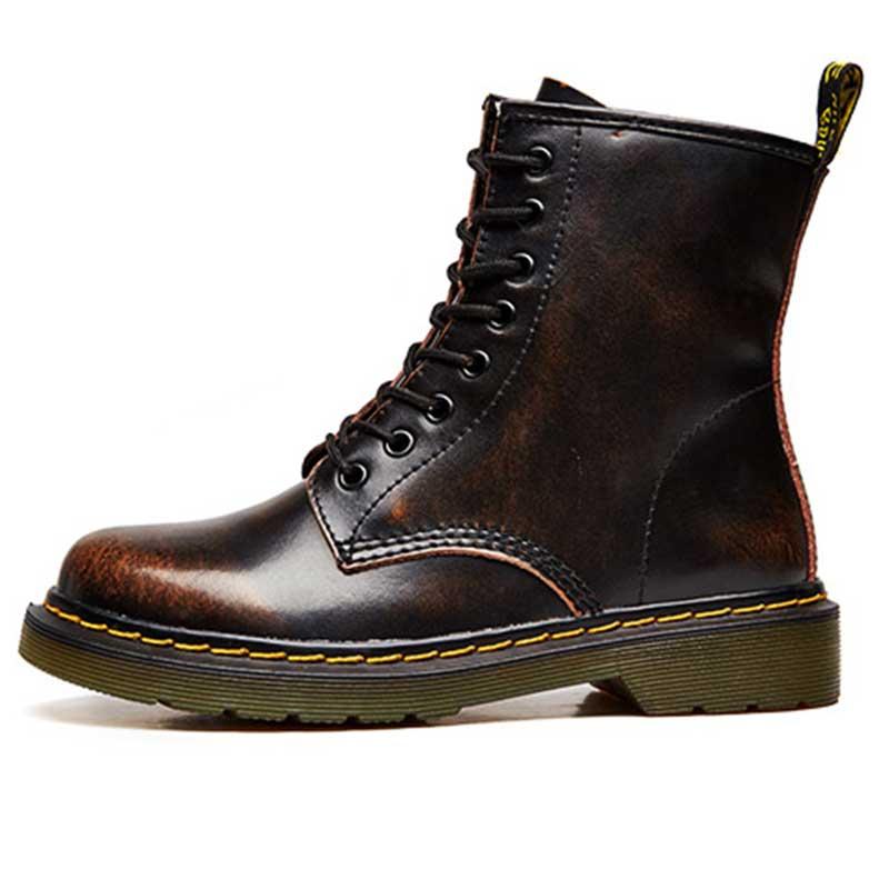 5c935a5e Equestr Botas 34 marrón Genuino Cuero Zapatos Más Hasta Punk negro Encaje  Tamaño Otoño Beige gris Primavera Mujeres ...