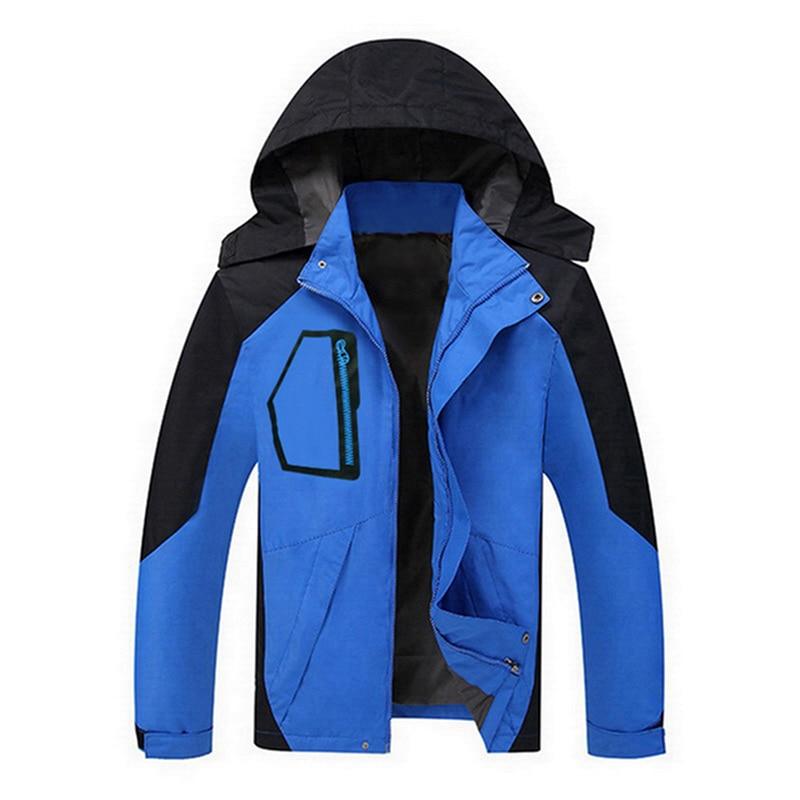 Men Plus Size Spring Autumn Hooded Jackets Thin Sporting Coats Outwear Hooded Coat Waterproof  Male Windbreaker Jackets Hot Sale