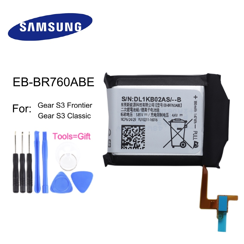 Samsung Battery Gear Frontier-Gear Sm-R765--Tools EB-BR760ABE 380mah for S3 Classic SM-R770