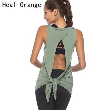 Women Yoga Shirts Gym Sport Top Women Open Back Top  Vest Sleeveless Shirt Workout Shirt Fitness Womens Workout Tops For Women Top