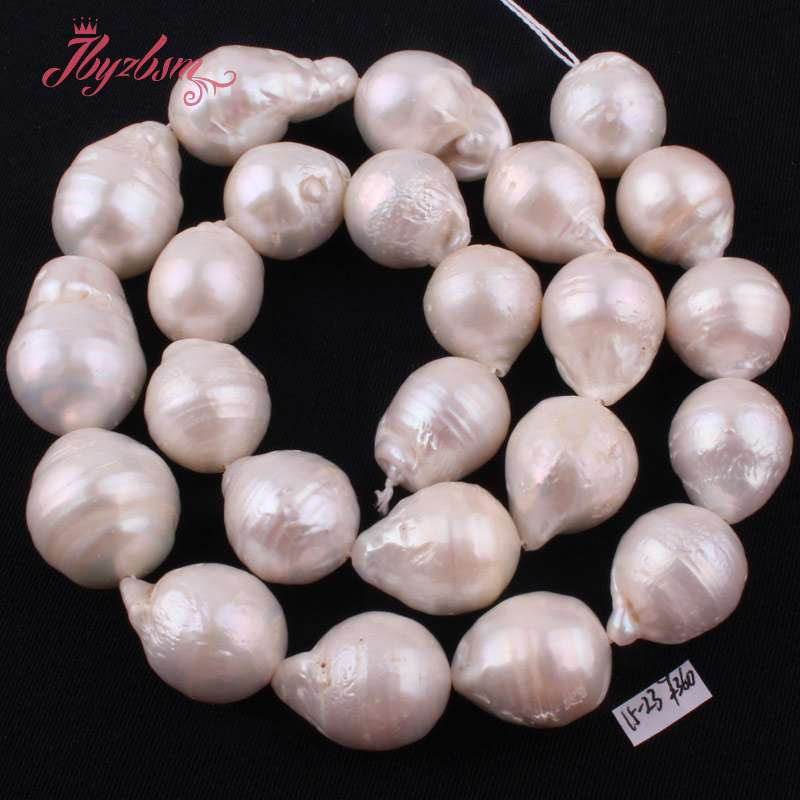 14x18mm Big Large Nearround White Freshwater Edsion Pearl Natural Stone Beads For DIY Necklace Jewelry Making 15 Free Shipping14x18mm Big Large Nearround White Freshwater Edsion Pearl Natural Stone Beads For DIY Necklace Jewelry Making 15 Free Shipping