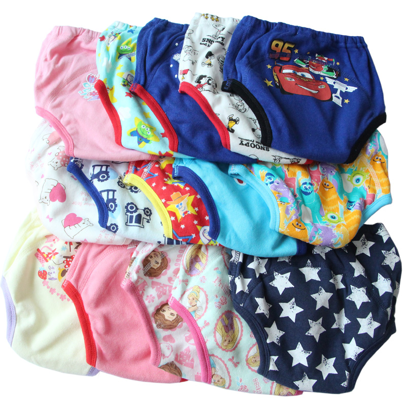 2PCS Reusable Baby Training Pants Infant Waterproof Pant Toddler Potty Underwear Newborn Boy Girl Swimming Diapers Nappy Panties