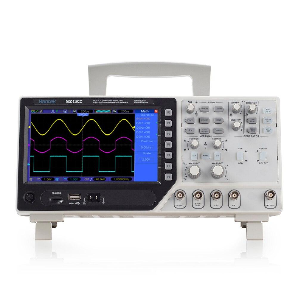 Hantek DSO4102S Digital Multimeter Oscilloscope USB 100MHz 2 Channels LCD Display Handheld Logic Analyzer