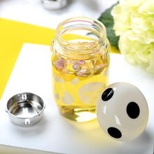 Mushroom glass cup portable lid tea strainers belt cup sets cup lovers cup water 280ML