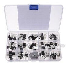 70 個 14 値 L7805 LM317 トランジスタキット電圧レギュレータ収納ボックス