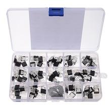 70 Pcs 14 Valori L7805 LM317 Kit Transistor Regolatore di Tensione Con La Scatola di Immagazzinaggio