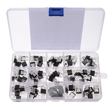 70 pièces 14 Valeurs L7805 LM317 Transistor Kit Régulateur De Tension Avec Boîte De Rangement