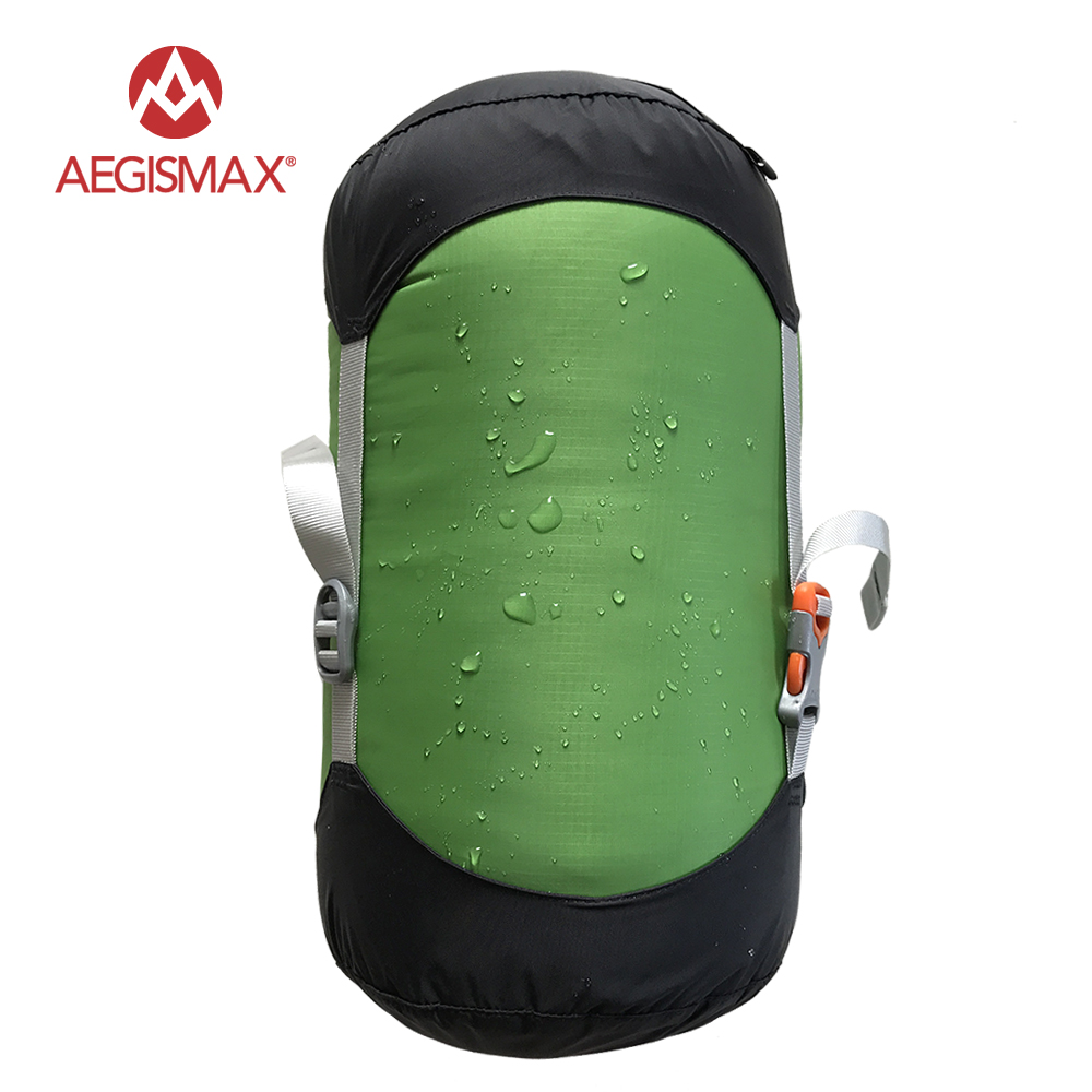 AEGISMAX Outdoor Sleeping Bag Pack Compression Stuff Sack High Quality Storage Carry Bag Sleeping Bag Accessories aegismax зеленый м