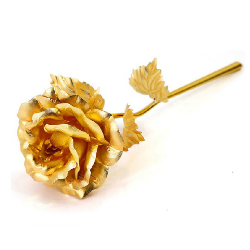 Buy 24k gold plated rose and gift box for for Decoration maison rose gold