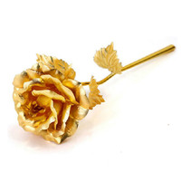 24K Gold Plated Rose and Gift Box/For Valentine's day Wedding Christmas decoration/New Year Valentine's day gifts/GOLDEN ROSE