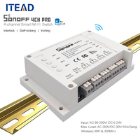 ITEAD Sonoff 4CH Pro 4 Gang 433MHZ Wireless Control WIFI Smart Switch Home Light Alexa Remote