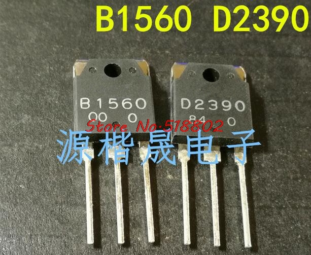 10pcs/lot 2SB1560 2SD2390 5pcs B1560 + 5pcs D2390 TO-3P In Stock image