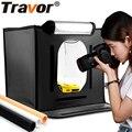 Travor F40 LED מתקפל צילום סטודיו Softbox Lightbox 40*40 אור אוהל עם לבן צהוב שחור רקע אביזרי תיבה אור