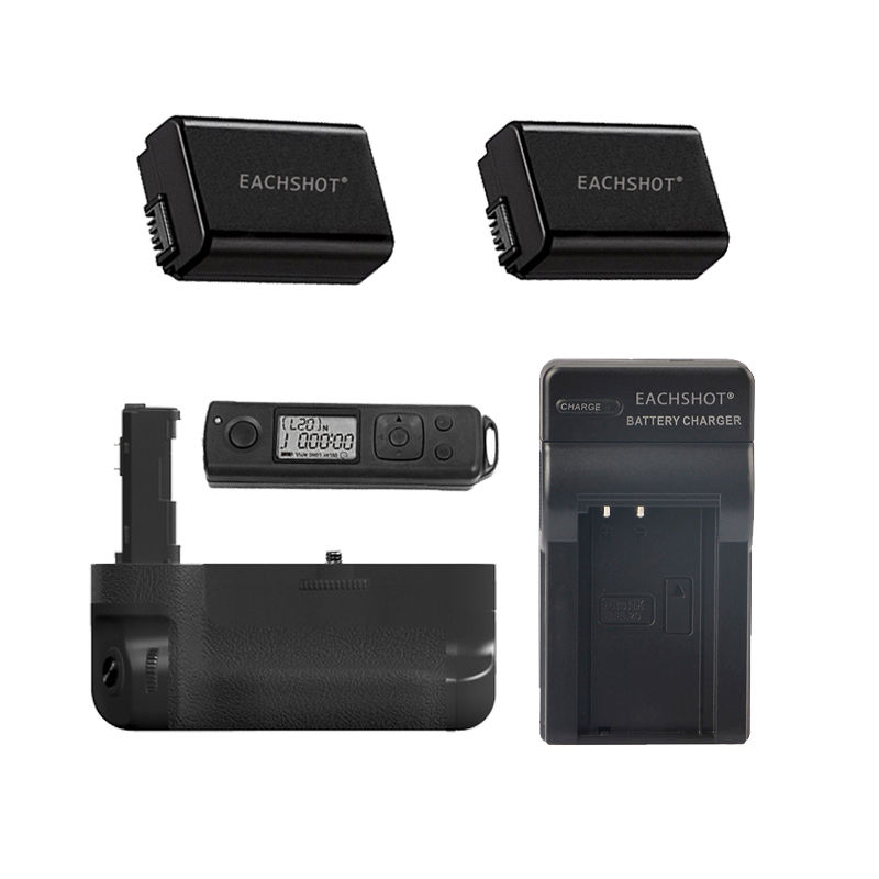 Meike Wireless Control Battery Grip for Sony A7 II A7R II as VG-C2EM + 2 NP-FW50 battery meike mk a6300 pro battery grip 2 4g wireless remote control for sony a6300 np fw50
