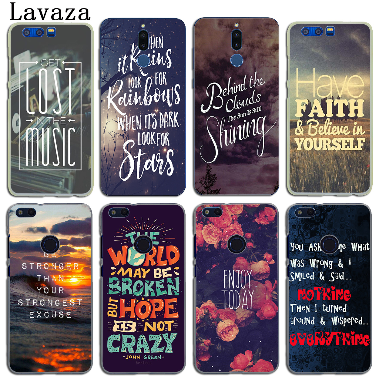 Lavaza Beautiful Rose Flower Sky City Phone Case for Huawei Y6 Y3 Y5 II Y7 2017 Nova 2 Plus 2S 2i Honor 9 8 Lite 7 6 6A 7X 6X ...