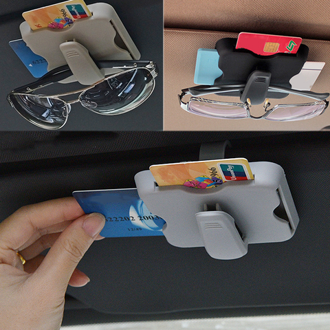 Car Sun Visor Clip Sunglasses Eyeglasses Glasses Holder Organizer Storage Case Clips Credit Card Package ID Car Interior Styling Karachi