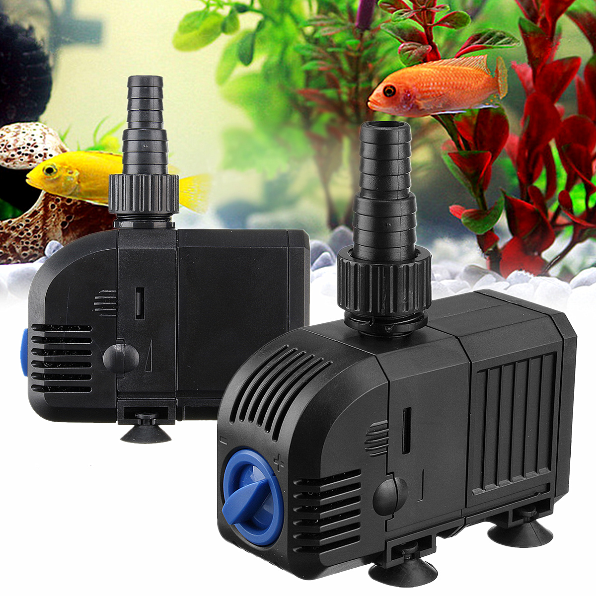 AC 220-240V Adjustable Flow Rate Electric Submersible Water Pump Aquarium Filter Fish Tank Pool Pond Fountain Watering Pumps