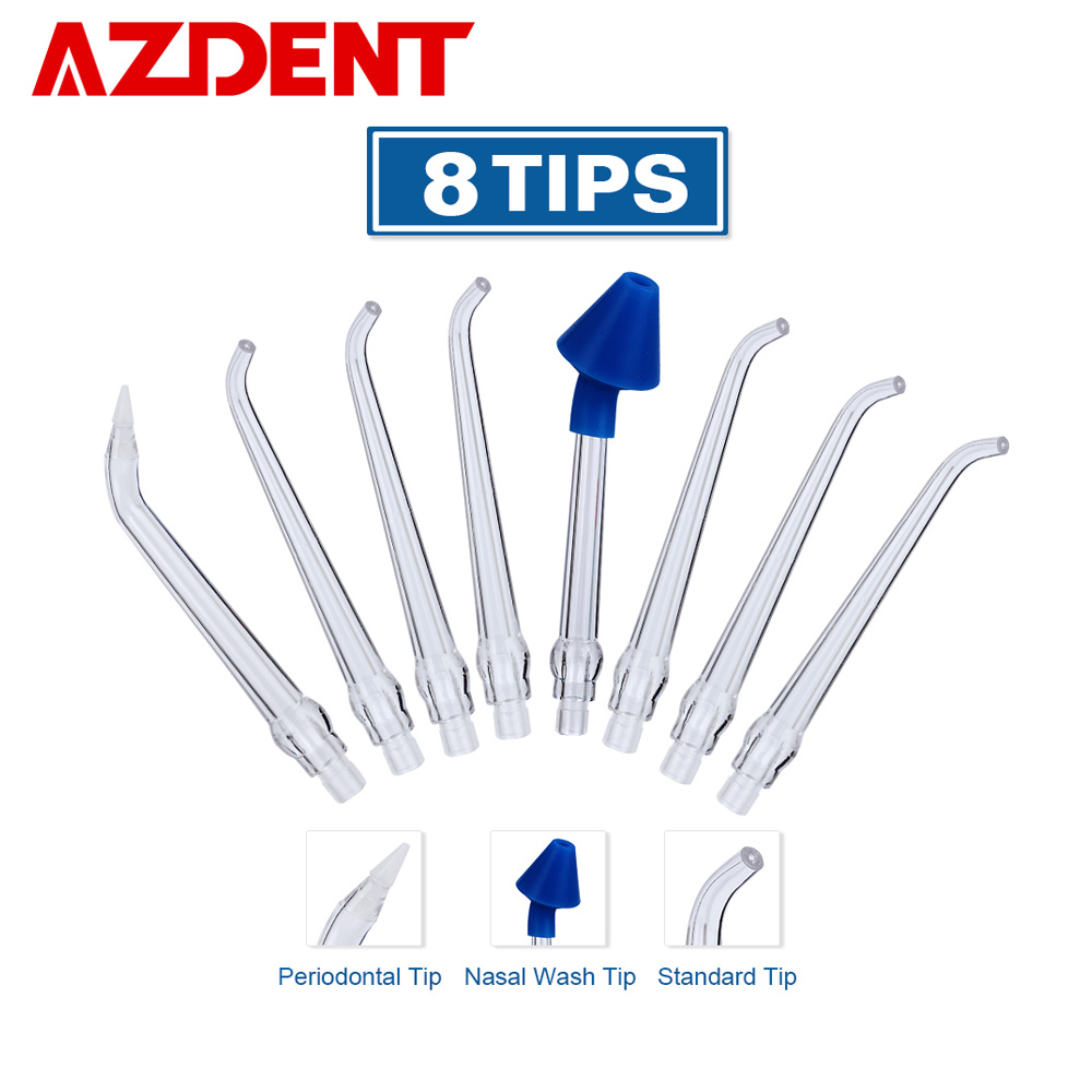 AZDENT 8 Tips For AZ-007 Gen1 Oral Irrigator Water Dental Flosser Nasal Wash Periodontal Bag Ordinary Nozzles Irrigation Floss