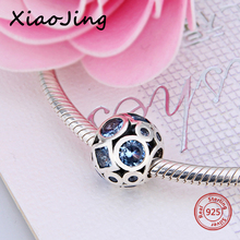 цены Authentic 925 Sterling Silver Essence Collection Bead Blue CZ Peace Charm Fits Pandora Essence Charms Bracelet