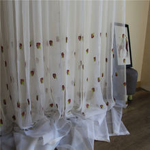 Милые виноградные тюлевые шторы с вышивкой вуаль пасторальный
