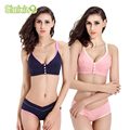 Bra+Panties Set Cotton Pregnant Brassieres Maternity Pregnancy Breast Feeding Bras For Women Panties Underwear Mother Clothes