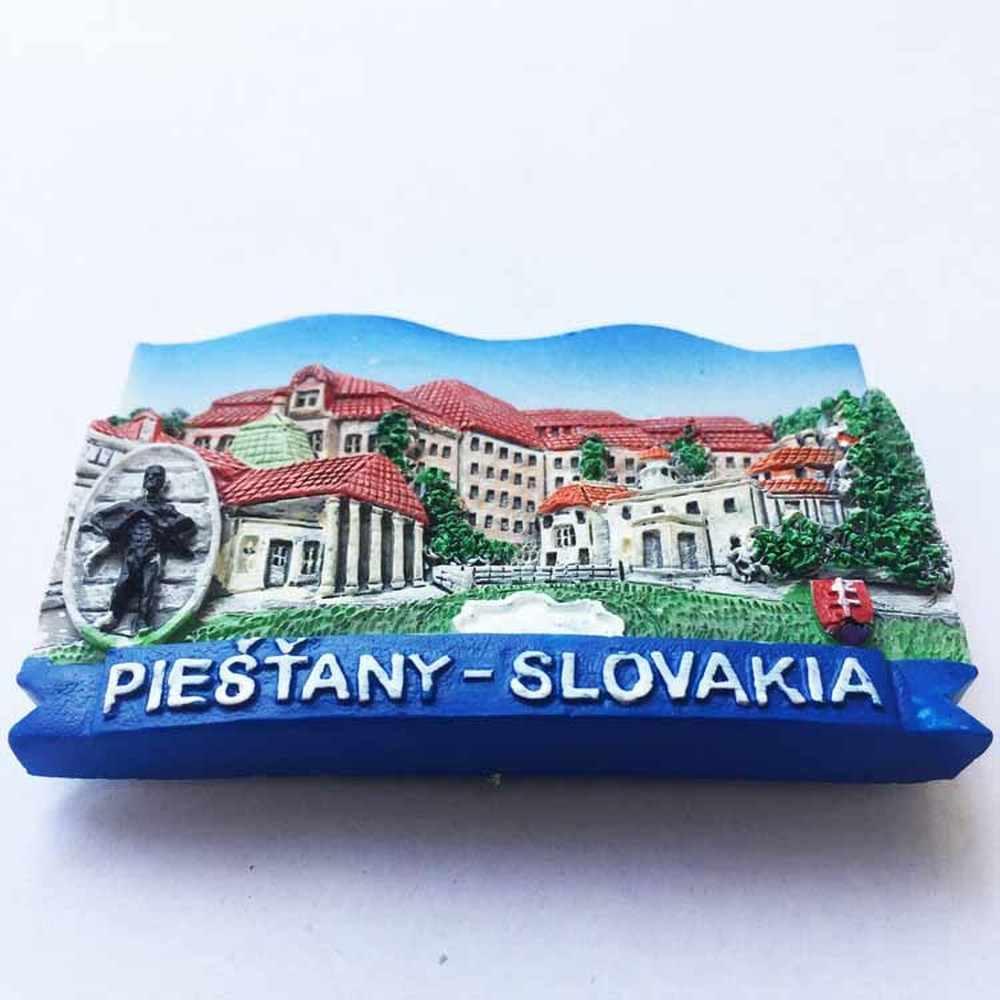 슬로바키아 냉장고 자석 세계 여행 기념품 냉장고 마그네틱 스티커