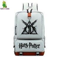 Mochila Harri Potter School Backpack Bags Canvas Backpacks Hogwarts Deathly Hallows Laptop Bookbags For Teenage Girls Travel Bag