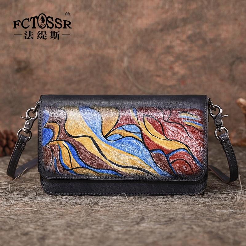 Новая маленькая квадратная сумка в стиле ретро, простая мини сумка на плечо, женская сумка ручной работы из коровьей кожи, женская сумка с рисунком