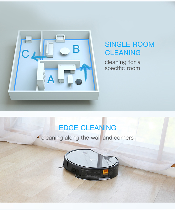 NEATSVOR X500 1800PA Robot Vacuum Cleaner for Wet or Dry Mopping with Map Navigation and Anti Collision Feature 22