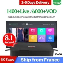 Leadcool Pro Android 8.1 RK3229 1G 8G QHDTV IPTV Subscription TV Box 1 Year IPTV Belgium France Arabic Morocco Holland IP TV недорого