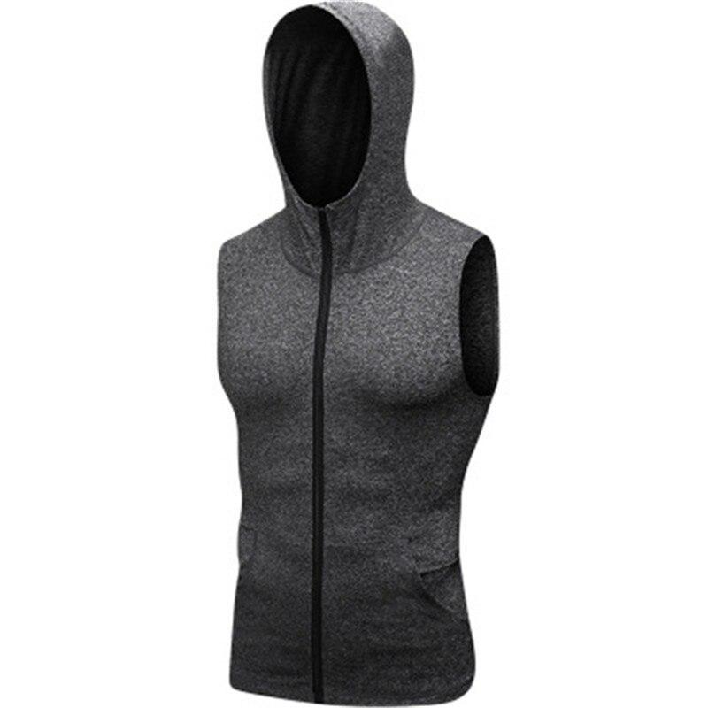 Brand Men T shirt Sports Jerseys Compression Sleeveless Shirt hoddies Fitness Gym Training Sportswear Tops Man Quick Dry Tops