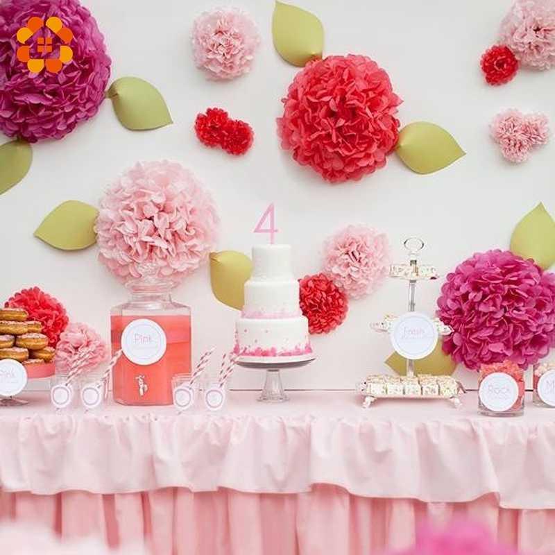 820cmtissue Paper Pom Poms Wedding Party Decor Paper Flower For Wedding Decoration Garden Supplies