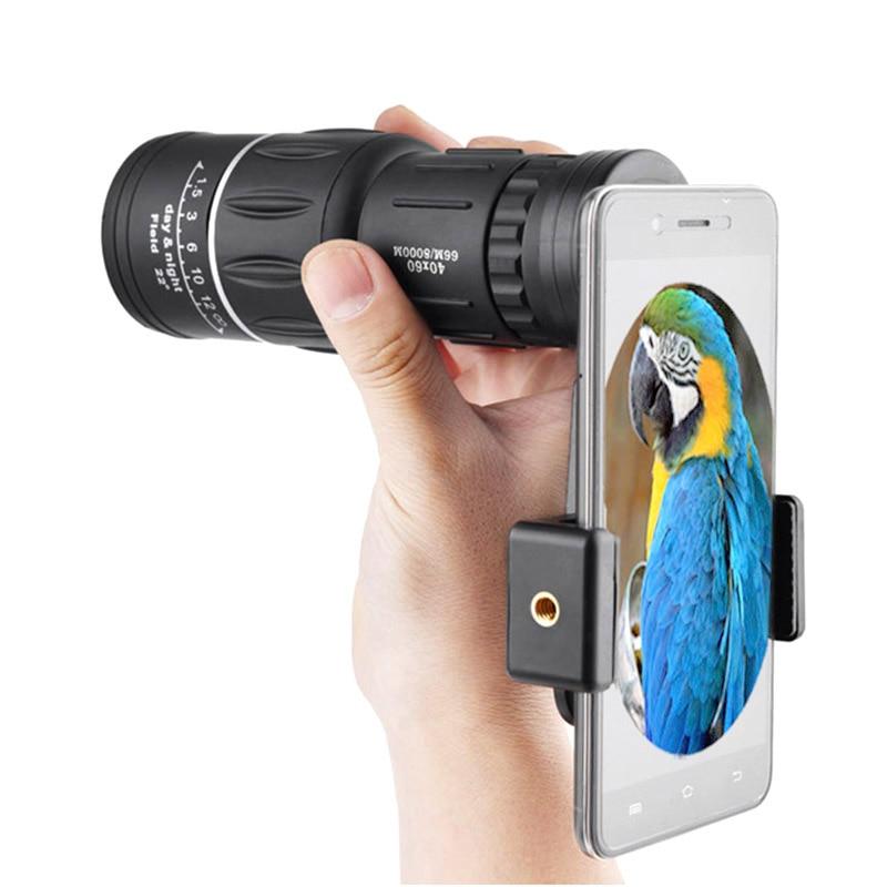 Portable Telescope 40x60 Military HD Professional Monocular Zoom Binoculars Night Hunting Optic Scope Big Vision Telescopio-in Monocular/Binoculars from Sports & Entertainment