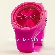 Jelly watches2012 in style silicone Jelly  watch =japan movt + colorful design +nice face+free shipping