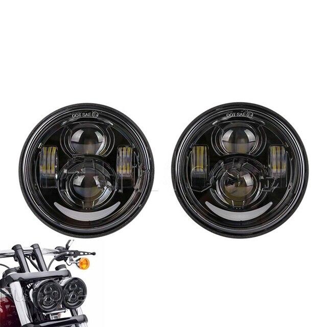 for Harley Fat Bob FXDF 08 16 Motocycle LED Motor Headlamp Headlight For FatBob Dual Headlamp