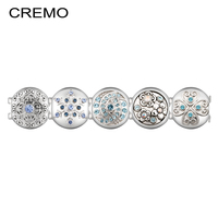 Cremo Floral Modular Links Blue Zircon Micro Paved Flower Design Inventive Connector Changeable Jewelry Accessories for Women