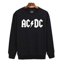 Rock And Roll AD DC Harajuku Sweatshirt Black And Classic Mens Long Sleeve Hoodies Mens Hip