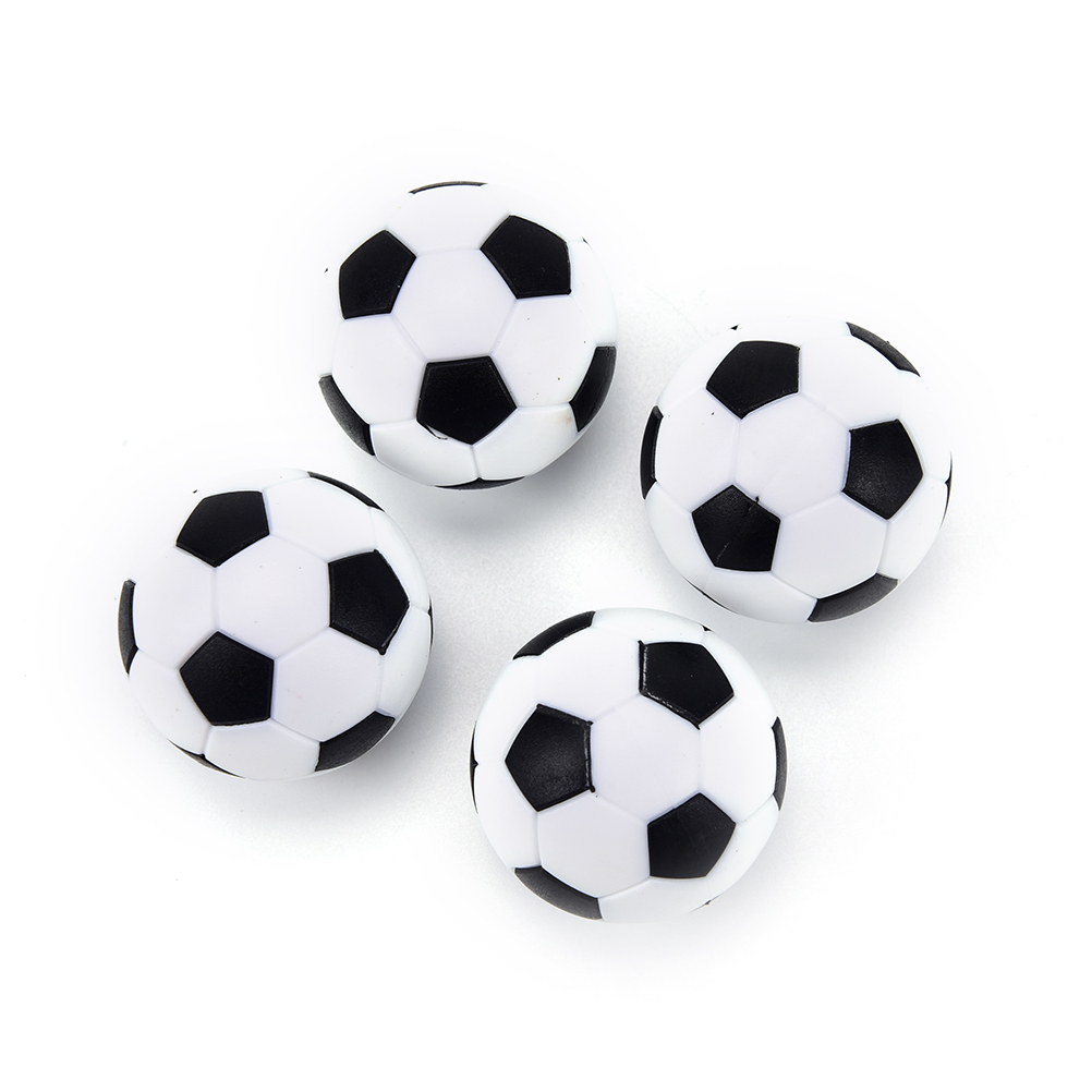 4Pcs Black And White High Quality Resin Foosball Table Soccer Table Ball Baby Foot Fussball Spotrs Gifts