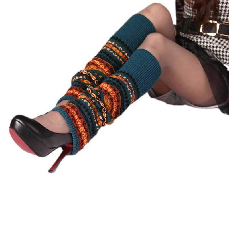 Nuevo largo Calcetines mujeres Boot Calcetines invierno Bohemia alto ...