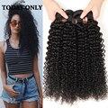 Королева Волос Бразильский Kinky Вьющиеся Девы Волос 4 Bundle Предложения Afro Kinky Вьющиеся Weave Человеческих Волос Связки 8А Реми волос