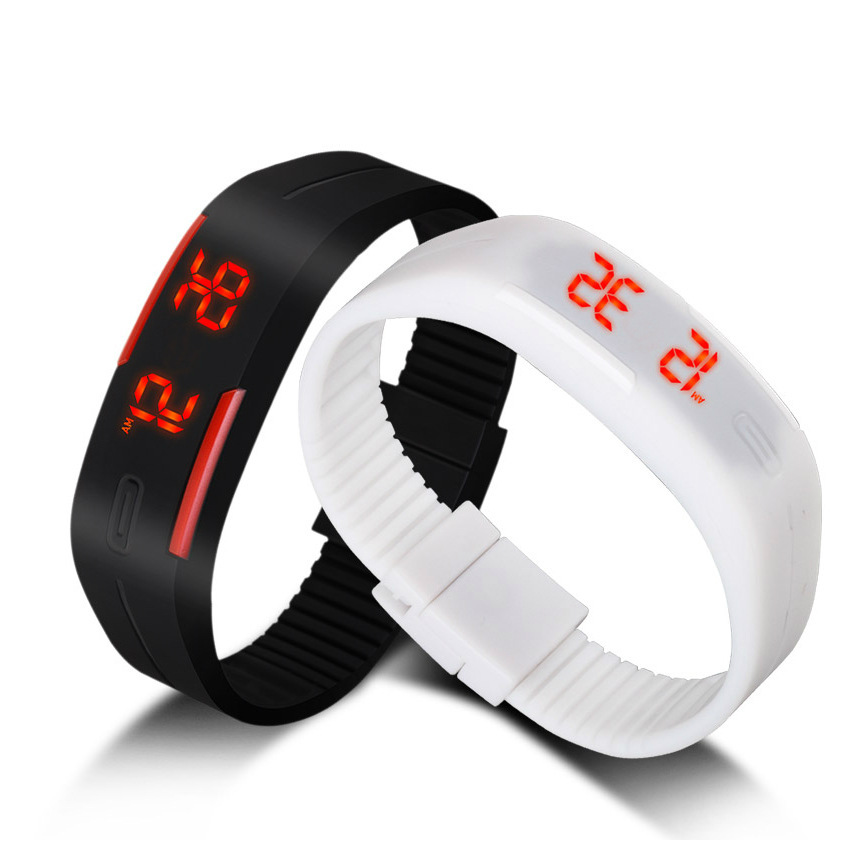 NEW Fashion Sport LED font b Watches b font Candy Color Silicone Rubber Touch Screen Digital