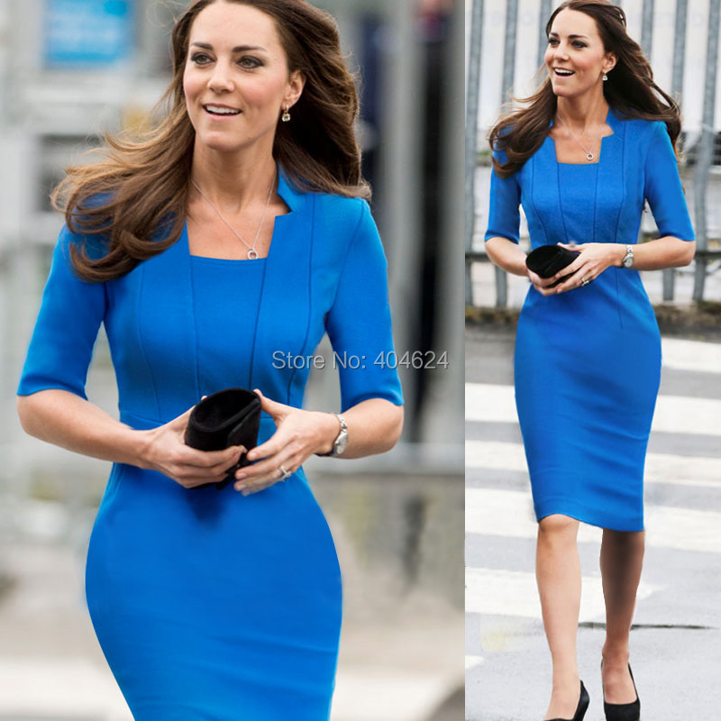 Aliexpress.com : Buy New Fashion Elegant Women Half Sleeve Blue ...