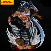 20 ONE PIECE Statue World government Bust CP9 Rob Lucci Full Length Portrait Bane of Enemies Luffy GK Action Figure Toy B1494
